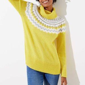 Fairisle Turtleneck Sweater